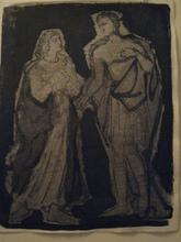 Léon ZACK - Drawing-Watercolor - SANS TITRE