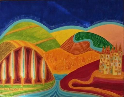 Luca DALL'OLIO - Painting - Dune di velluto