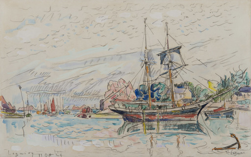 Paul SIGNAC - Drawing-Watercolor - Loguivy