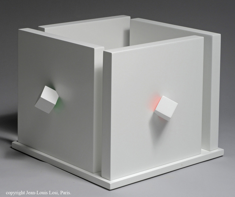 Luis TOMASELLO - Sculpture-Volume - Cube Atmosphère Chromoplastique