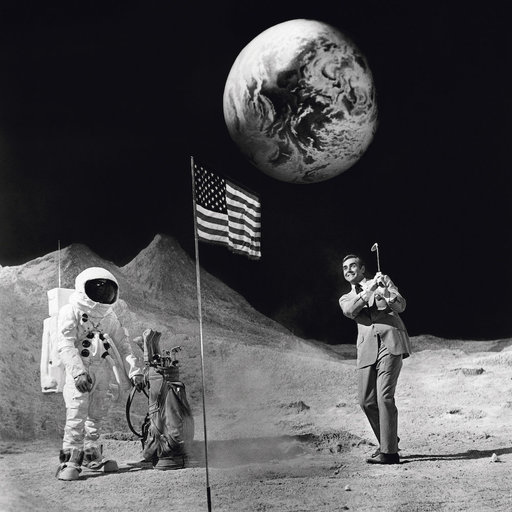 Terry O'NEILL - 照片 - Sean Connery on the Moon