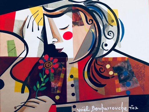 Yoel BENHARROUCHE - Peinture - Mes pensées sont comme des fleurs