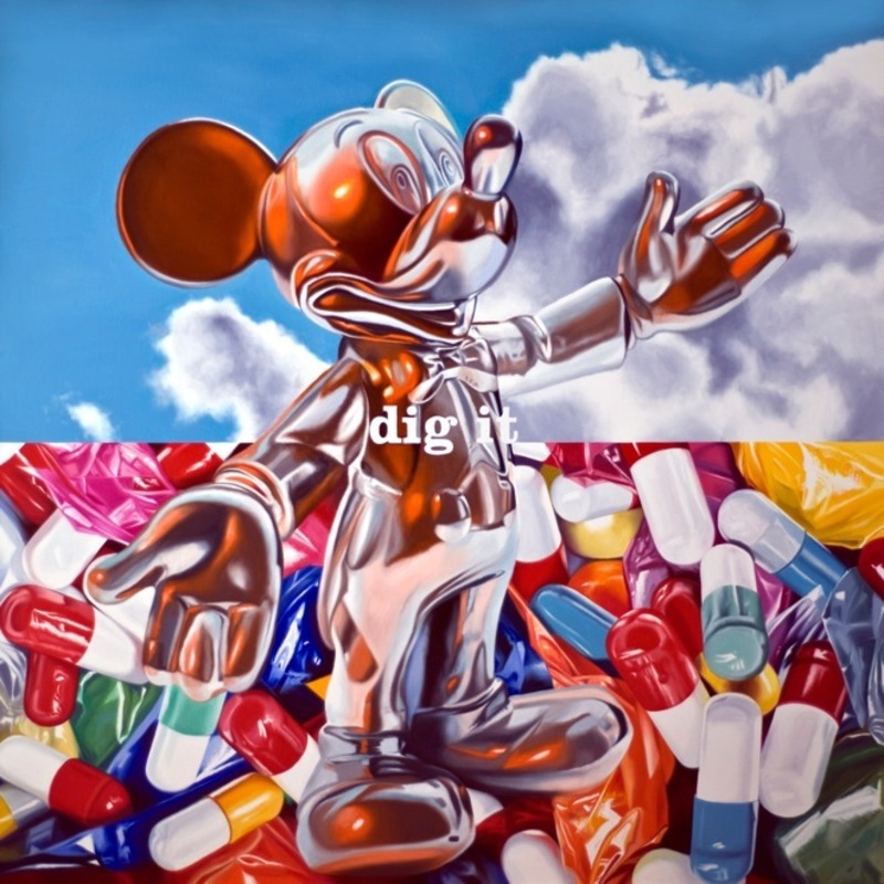 Philippe HUART - Painting - Can you dig it?