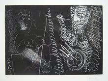 """Pablo PICASSO (1881-1973) - """"Peintre et modèle"""" (Bloch 1375, Baer 1396)"""