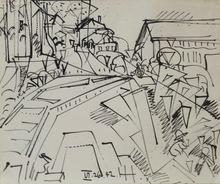 汉斯•霍夫曼 - 水彩作品 - Provincetown Drawing