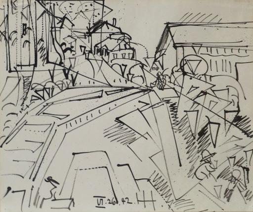 Hans HOFMANN - Disegno Acquarello - Provincetown Drawing