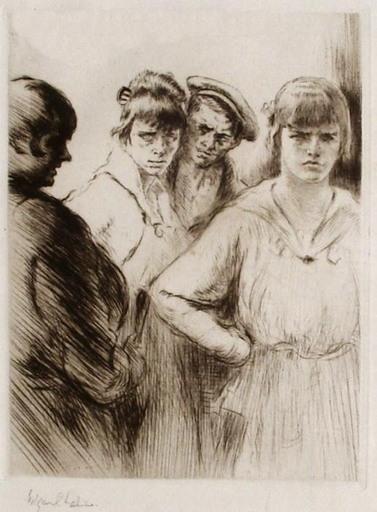 Edgar CHAHINE - Print-Multiple - Filles et marlous