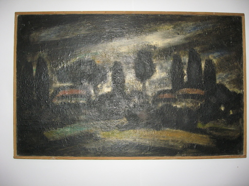 Alfred ANGELETTI - Peinture - COLLINE DE NICE