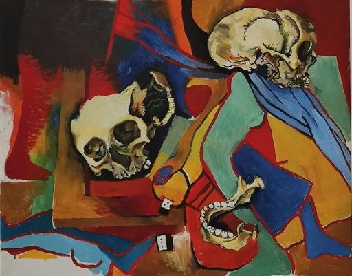 Renato GUTTUSO - Pittura - Teschi con omaggio a Picasso e alla sua Crocifissione