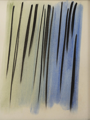 Hans HARTUNG - Dessin-Aquarelle - Composition abstraite