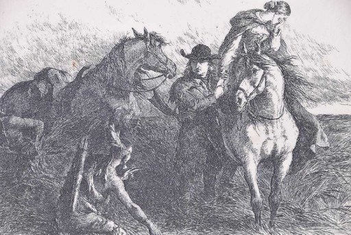 Felix Octavius Carr DARLEY - Drawing-Watercolor