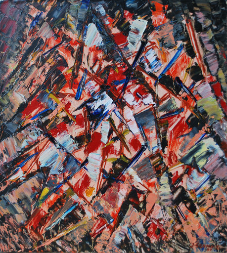 Jacques GERMAIN - Pittura - Abstraction