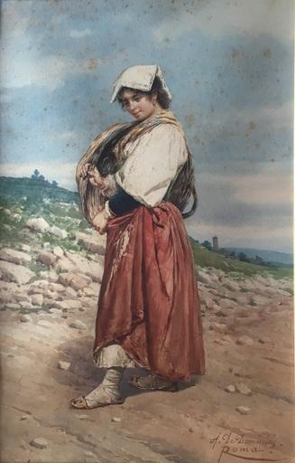 Achille DE DOMINICIS - Gemälde
