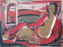 Henryk BERLEWI - Pintura - Reclining Figure