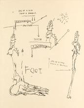 Jean-Michel BASQUIAT - Estampe-Multiple - Leg of a Dog