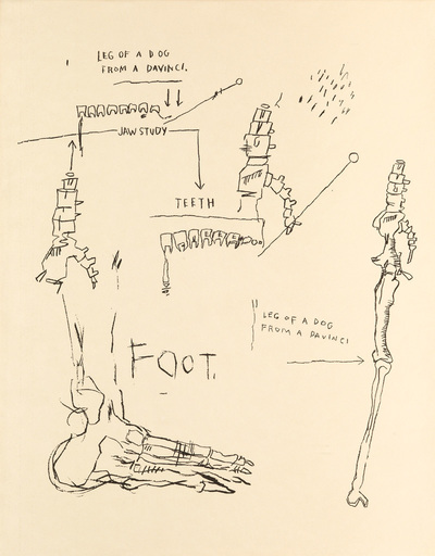 Jean-Michel BASQUIAT - Stampa Multiplo - Leg of a Dog