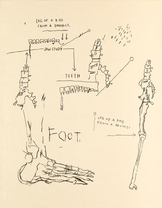 Jean-Michel BASQUIAT - Stampa Multiplo - Leg of a Dog
