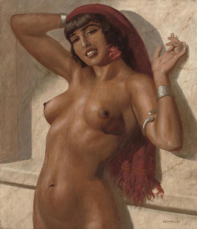 Marcel René HERRFELDT - Painting - An oriental Beauty