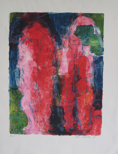 Jan SIVERTSEN - Stampa-Multiplo - LITHOGRAPHIE 1998 SIGNÉ CRAYON EA HANDSIGNED EA LITHOGRAPH