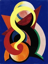 Auguste HERBIN - Dessin-Aquarelle - Composition