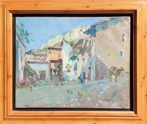 Joaquín MIR Y TRINXET - Painting - Plaça del Raval , Coll de Nargó.