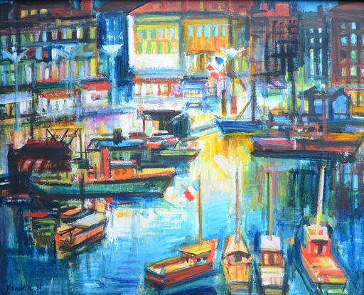 Rudolf KUNDERA - 绘画 - Le Vieux-Port à Marseille