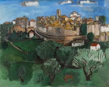 Raoul DUFY - Peinture - Saint-Paul-de-Vence