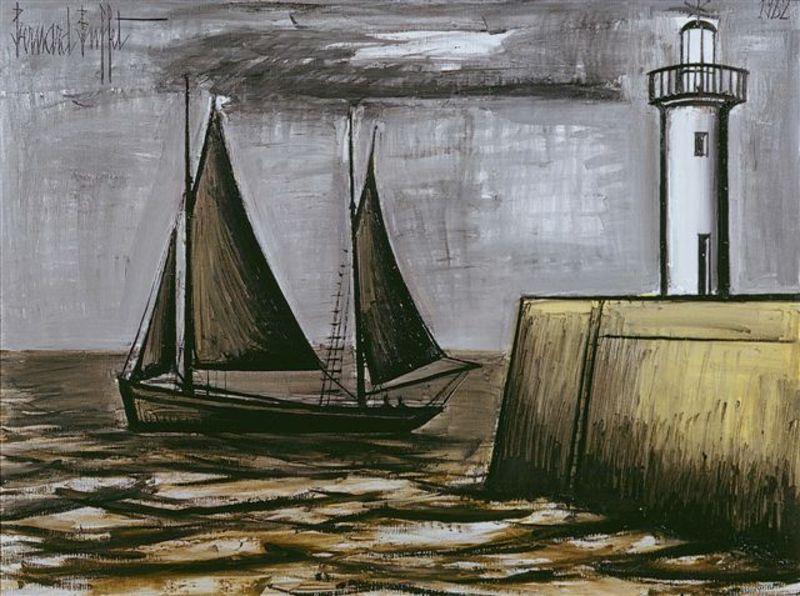 Bernard BUFFET - Painting - Sail Boat