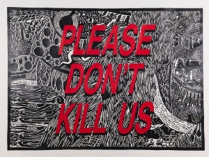Cameron PLATTER - Dibujo Acuarela - Please don't kill us