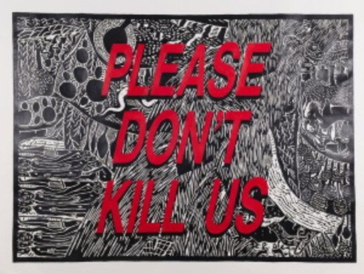 Cameron PLATTER - Disegno Acquarello - Please don't kill us