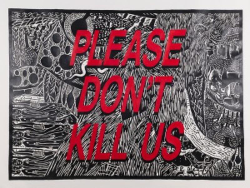 Cameron PLATTER - Dibujo Acuarela - Please don't kill us
