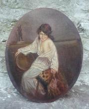 Henri VINCENT-ANGLADE - Pintura - (70)Femme au sofa