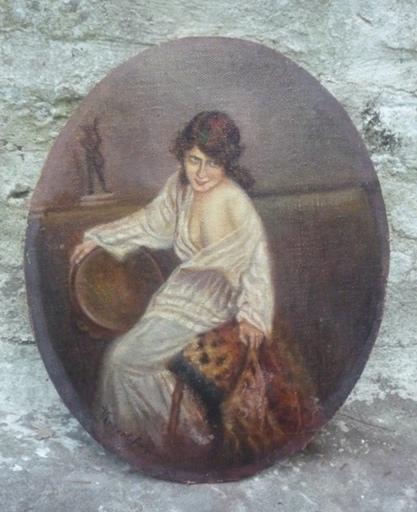 Henri VINCENT-ANGLADE - Gemälde - (70)Femme au sofa