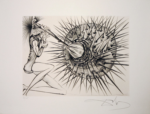 Salvador DALI - Stampa Multiplo - Don  Quichotte et L'oursin