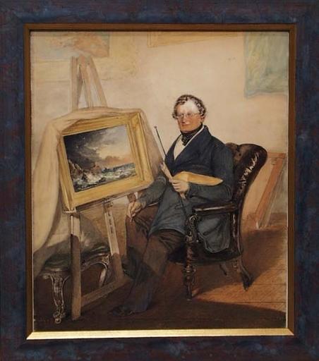 "Rudolf GAUPMANN - Disegno Acquarello - ""Portrait of a Painter"" by Rudolf Gaupmann"