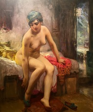 Frederic Arthur BRIDGMAN - Pintura - After the Bath