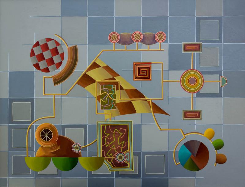 Enrique Rodriguez GUZPENA - Painting - Cuestión de instrumento