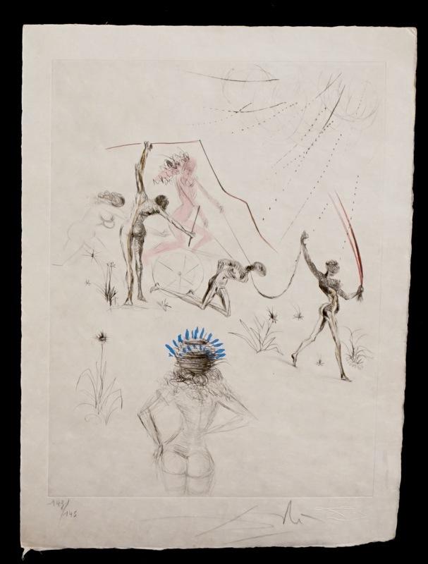 Salvador DALI - Stampa-Multiplo - La Venus aux Fourrures The Negresses