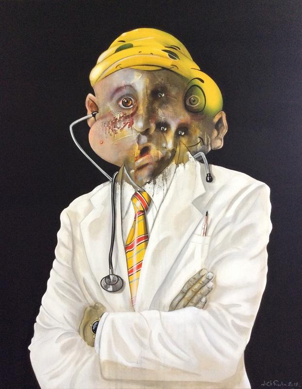Jean Christophe FISCHER - Painting - sans titre 4.9.8
