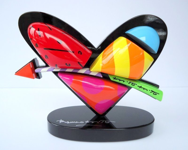 Romero BRITTO - Sculpture-Volume - In Love