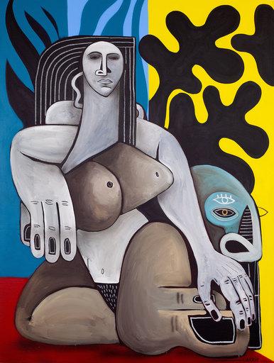 Guillaume GARRIÉ - Painting - TAPIS VERT