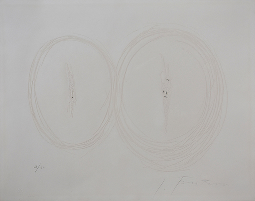 Lucio FONTANA - Grabado - Spatial Concept II, from: Six Original Etchings