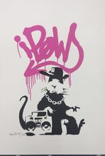 BANKSY - Estampe-Multiple - Gangsta Rat - Pink