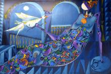 José MIJARES - Pintura - Woman with Dove
