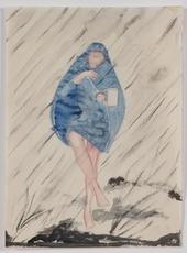 """Mela KÖHLER - Drawing-Watercolor - """"In the Rain"""", Watercolor"""