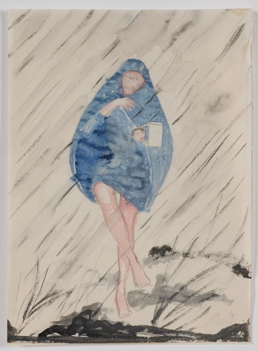 "Mela KÖHLER - Disegno Acquarello - ""In the Rain"", Watercolor"