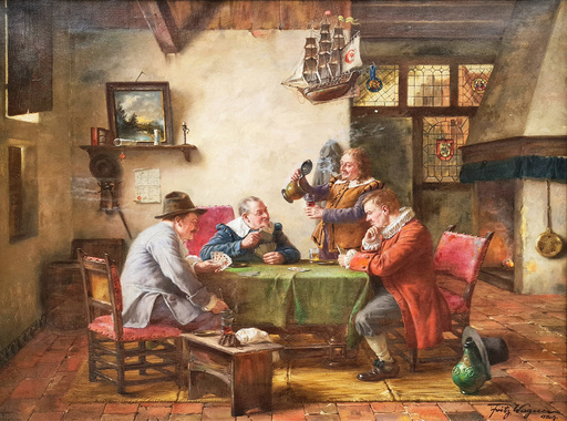 Fritz WAGENER - Pintura - Playing Cards