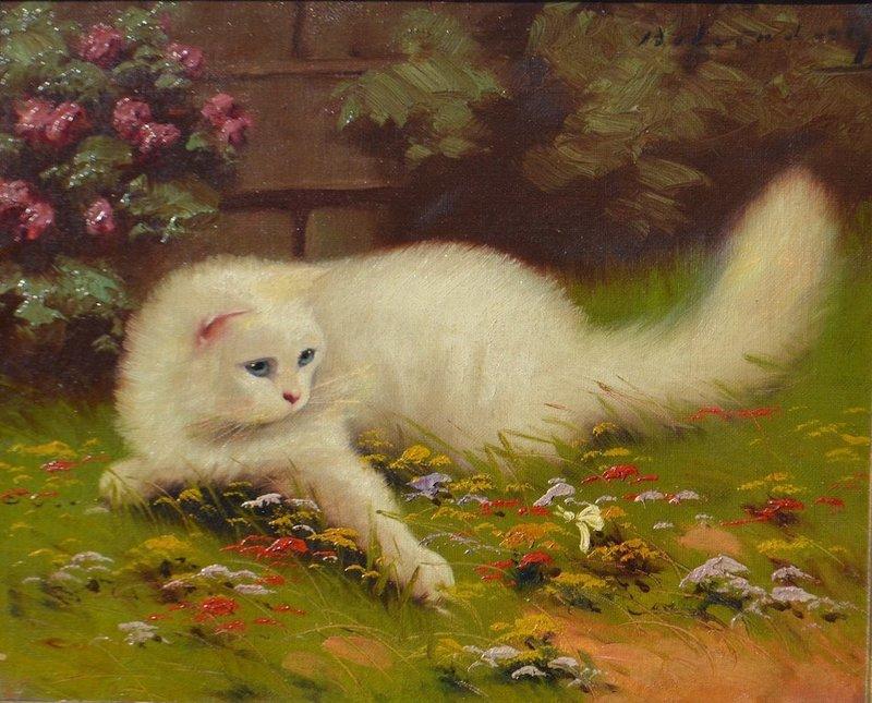 Beno BOLERADSZKY - Pintura - The cat