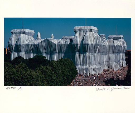 CHRISTO - Druckgrafik-Multiple - Reichstag Mappe II, Südfassade