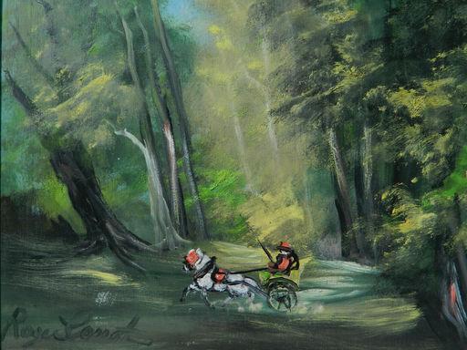 Roger COMTE - Painting - PAYSAGE - LANDSCAPE